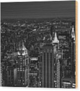 Night In Manhattan Wood Print