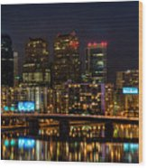 Night In The City Of Brotherly Love Wood Print by Louis Dallara