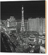 night in Vegas Wood Print