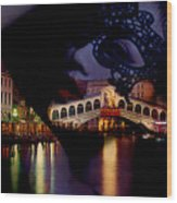 Night In Venice Wood Print