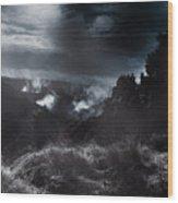 Night Landscape. Australian Mountain View Wood Print