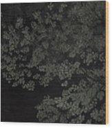 Night Leaves Wood Print