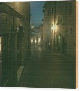 Night Life In Urbino  Wood Print