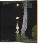 Night Light Wood Print