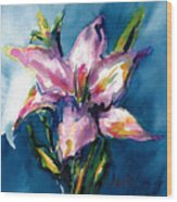 Night Lily Wood Print