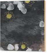 Night Lotus Wood Print