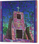 Night Magic San Miguel Mission Wood Print