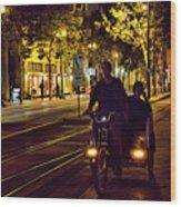 Night Moods Streets Of San Jose   Wood Print