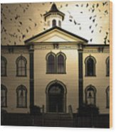 Night Of The Birds . Sepia . 7d12487 Wood Print