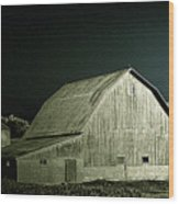 Night On The Farm Wood Print