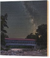 Night On The Swift River Wood Print