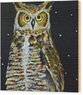 Night Owl Wood Print