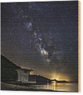 Night Patrol Lake Tahoe Wood Print
