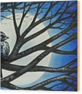 Night Perch Wood Print