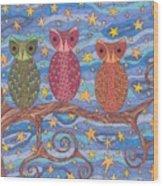 Night Rainbow Wood Print