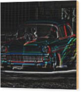 Night Rider Wood Print