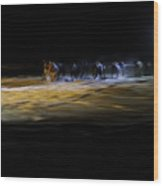 Night Runners Wood Print
