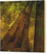 Night Sailing Wood Print