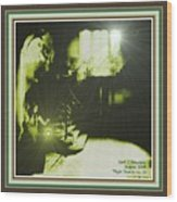 Night Search No. 14 With Decorative Ornate Printed Frame. Wood Print
