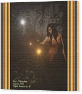 Night Search No. 8 H A With Decorative Ornate Printed Frame Wood Print