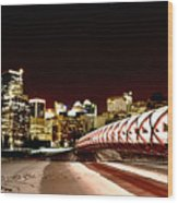 Night Shots Calgary Alberta Canada Wood Print