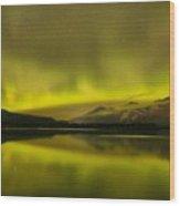 Night Skies And Northern Lights Wood Print