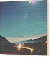 Night Sky Around Mount Bromo In Java, Indonesia Wood Print