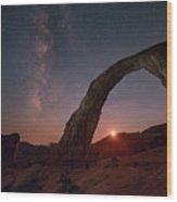 Night Sky At Corona Ach Wood Print