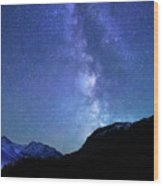 Night Sky In David Thomson Country Wood Print