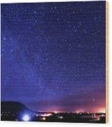 Night Sky Over County Mayo Wood Print