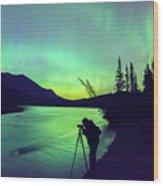 Night Sky Photographer Wood Print