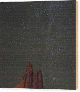 Night Sky Red Rock 2733 Wood Print