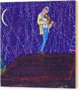 Night Song  Wood Print