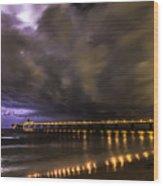 Night Storm Wood Print