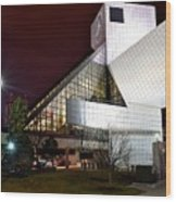 Night Time At The Rock Hall Wood Print