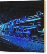 Night Train To Romance Wood Print by Aaron Berg