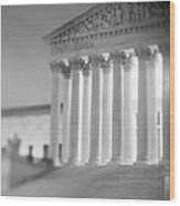 Night Us Supreme Court Washington Dc Wood Print