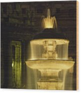 Night View Of A Fountain Outside Saint Wood Print
