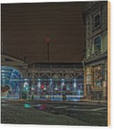 Night View Of Smithfield Market In North London Wood Print