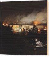 Night View Of The Pentagon Wood Print