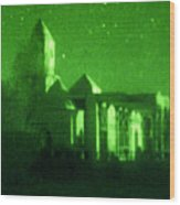 Night Vision Mosque Kandahar Wood Print