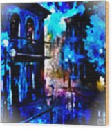 Night Walking In New Orleans Wood Print