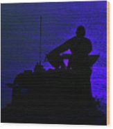 Night Watch Over The Pacific Wood Print