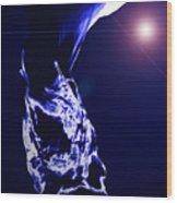 Night Water Wood Print