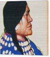Night Woman, A Blackfeet Of Montana Wood Print