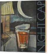 Nightcap Poster Wood Print