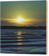 Nightfall At The Shore Wood Print