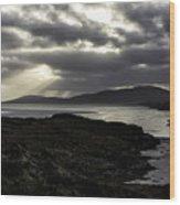 Nightfall Isle Of Harris Wood Print
