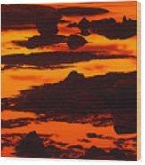 Nightfall Silhouettes Wood Print