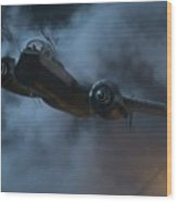 Nightfighter - Painterly Wood Print